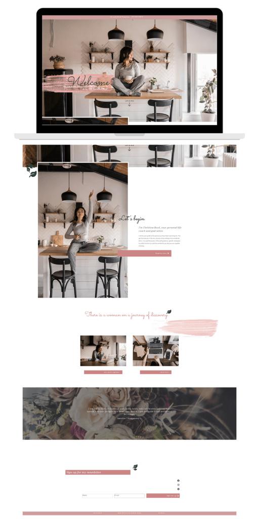 laptop view of website work