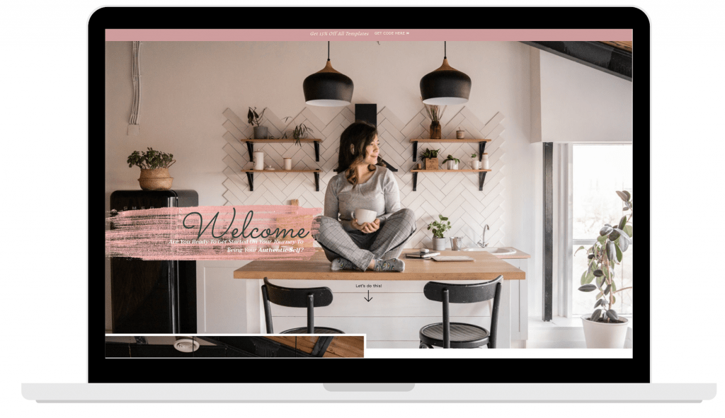 laptop view of design work